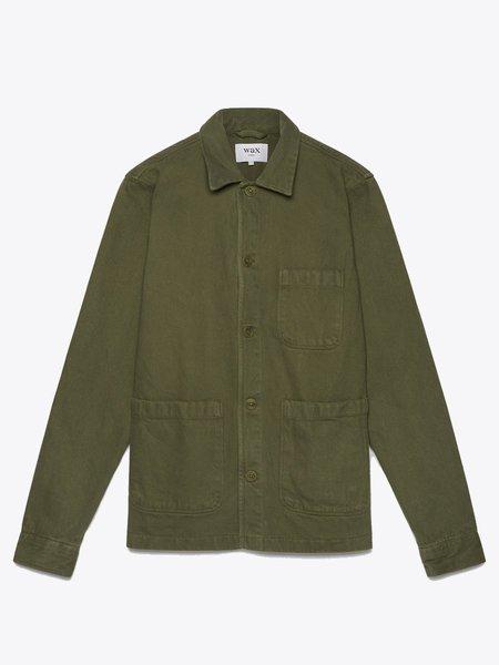 Wax London Chet Cotton Twill Overshirt - Khaki