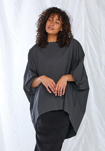 Asymmetric Cocoon Top - gray