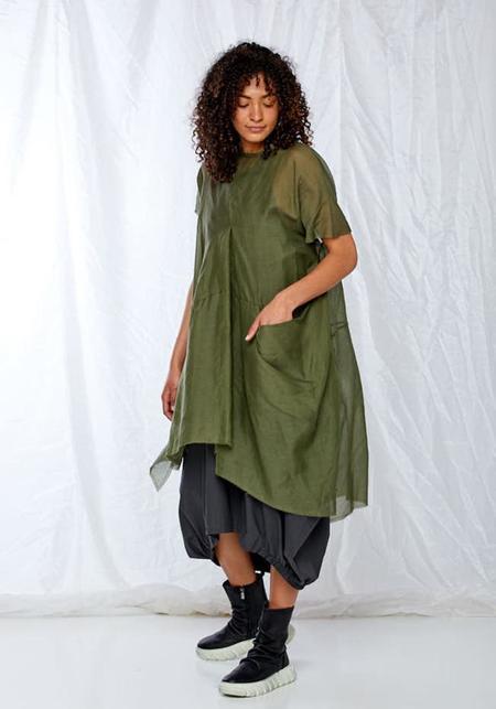 Sheer Oversized Asymmetric Dress