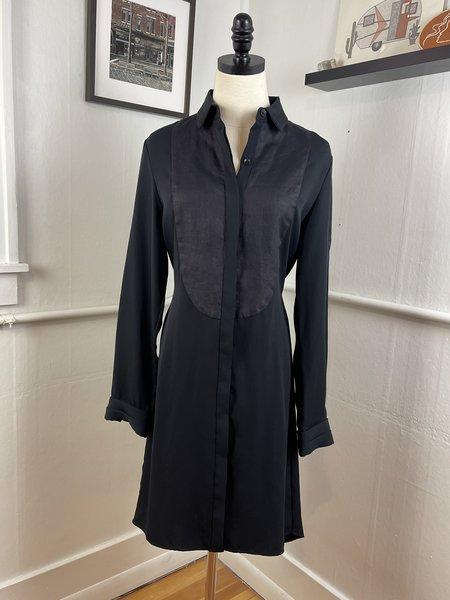 Rag & Bone Tuxedo Front Buttondown Dress - black/navy