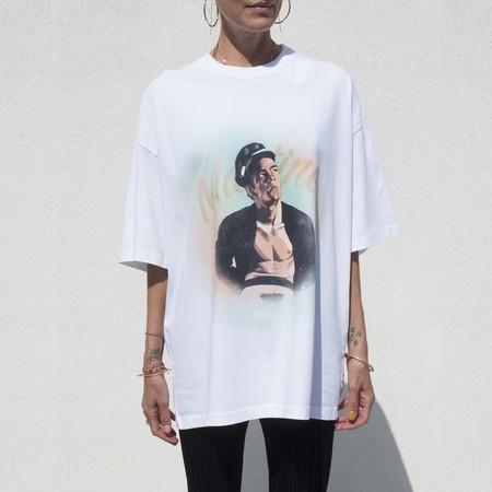 UNISEX Martine Rose Brittle T-Shirt - White Sailor
