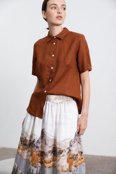 Milk & Thistle Matinee Skirt - Washington Print