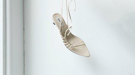 Reike Nen Knot Pointed Sandals - Cream