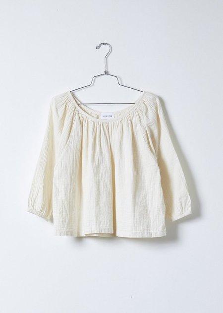 Atelier Delphine Afton Crinkled Cotton Top - Kinari