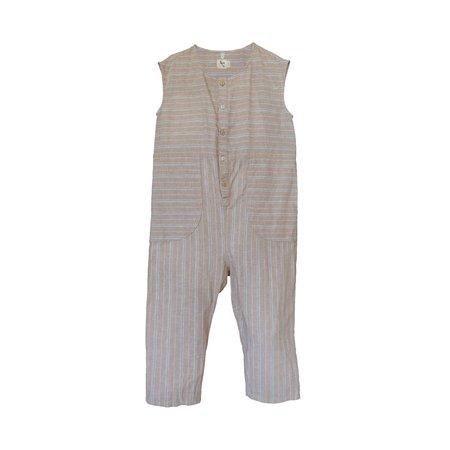 kids nico nico Julez Jumpsuit - Khaki Stripe