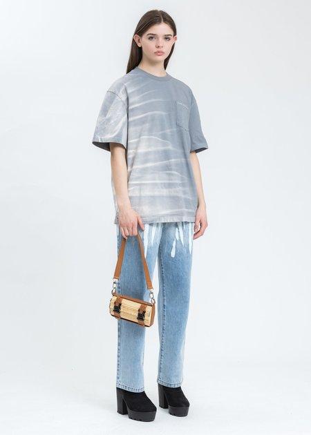 Feng Chen Wang Gradient Tie Dye T-Shirt - grey
