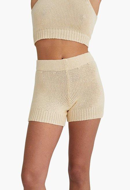 Paloma Wool Zubat Knit Shorts - Ecru