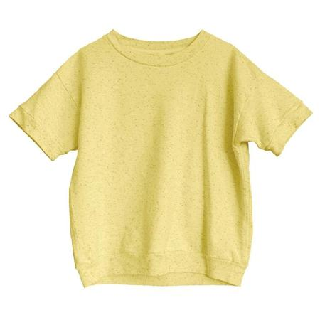 Kids Nico Nico Reid Short Sleeved Sweatshirt - Confetti Sunrise Yellow