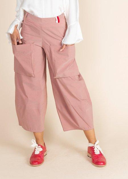 Echappees Belles Cotton King Trouser - Rouge