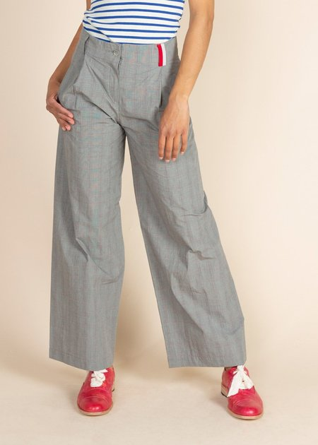 Echappees Belles Kano Trouser - Grey/Red Check