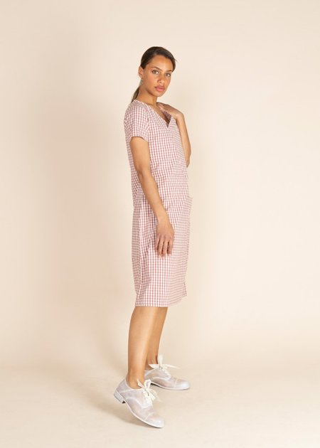Echappees Belles Katie Checked Dress - Red Check