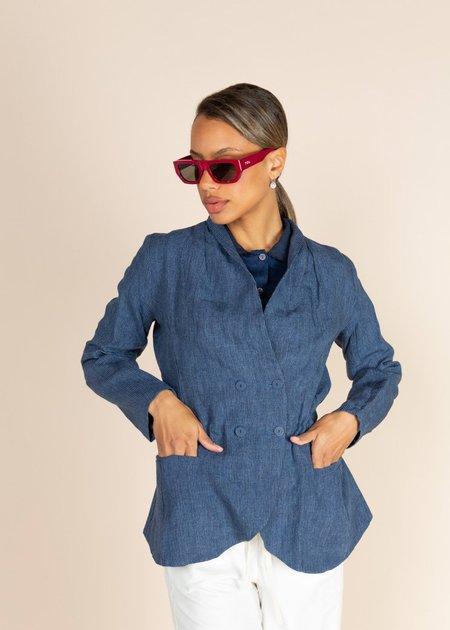 Echappees Belles Linen Karma Jacket - Bleu