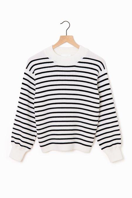 Molli Ondine Crewneck Sweater - Milk/Black