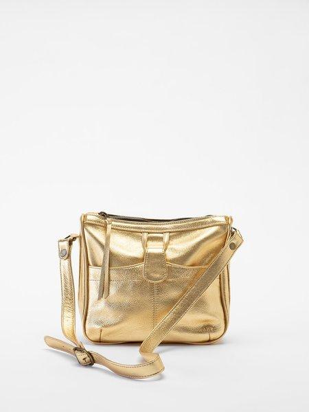 Erica Tanov Leather Albert metallic leather shoulder bag