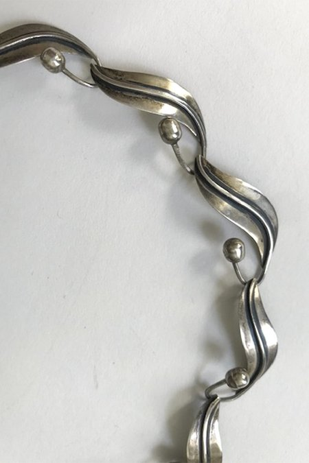 Vintage Classic Taxco Leaf Necklace - Sterling Silver