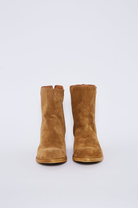 SHOTO Suede Bootie - Brown Suede
