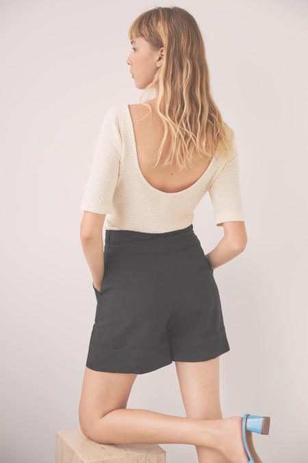 Mabel and Moss Eve Gravel Olive Top - Lavender