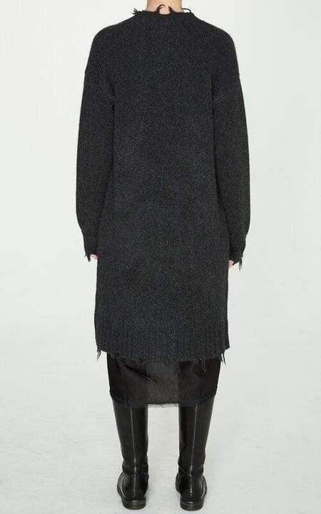 Brazeau Tricot Cashmere Car Coat - Charcoal