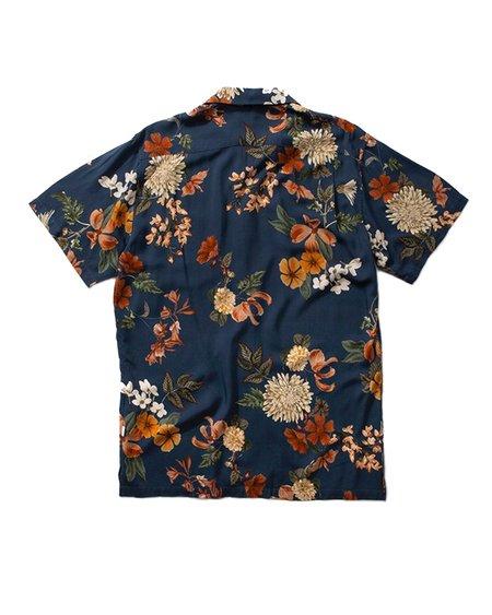 Edmmond Studios Short Sleeve Flowers Shirt - Printed Navy