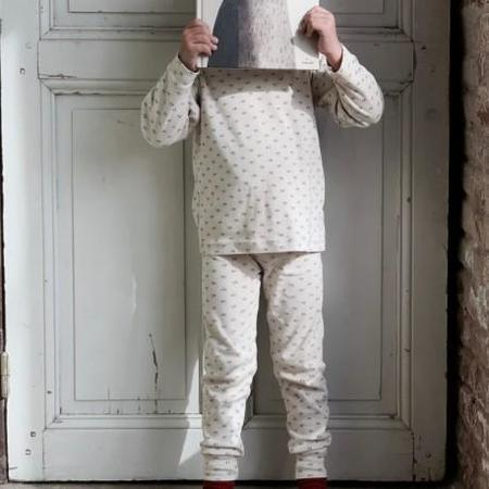 kids unisex Poudre Organic Arbousier Pyjama Set - Coeurs Carafe