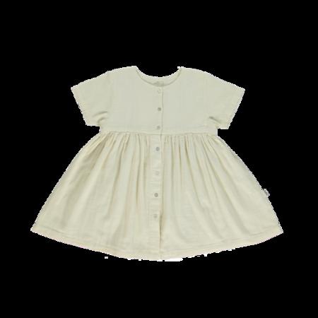 kids Poudre Organic Guarana Dress - Almond Milk