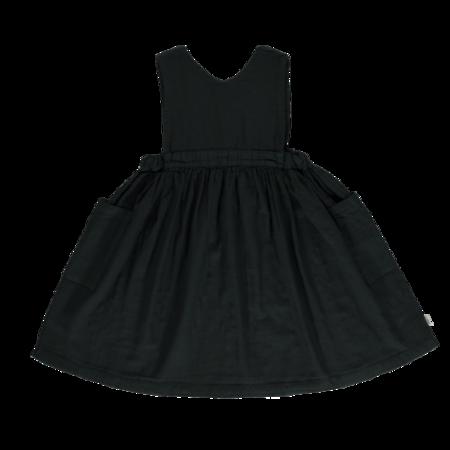 kids Poudre Organic Mangue Dress - black