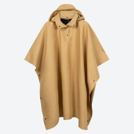 KASSL EDITIONS Cape Poncho Coat Trench - Beige