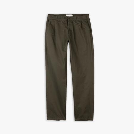 Livestock Pleated Pant - Dark Green