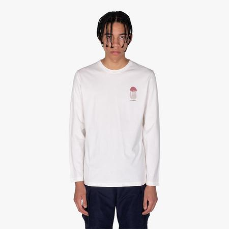 Wood Wood Peter Shroom Long Sleeve T-shirt - Off-White
