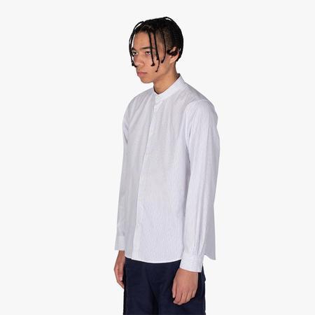 Wood Wood Tyson SS Button Up Shirt - White Stripes