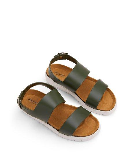 Matt & Natt Ashai Vegan Sandals - Olive