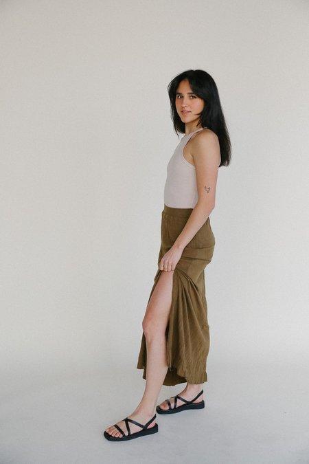 Mijeong Park Crinkled Jersey Maxi Skirt - Light Brown