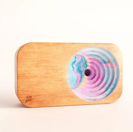 Bitti Gitti Design Wooden Sound system - Natural/Marble Multi