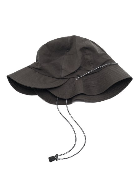 """meanswhile """"Split 6 Panel Hat - Charcoal"""