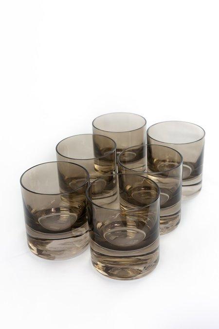 Estelle Colored Glass Rocks Glasses - Grey Smoke