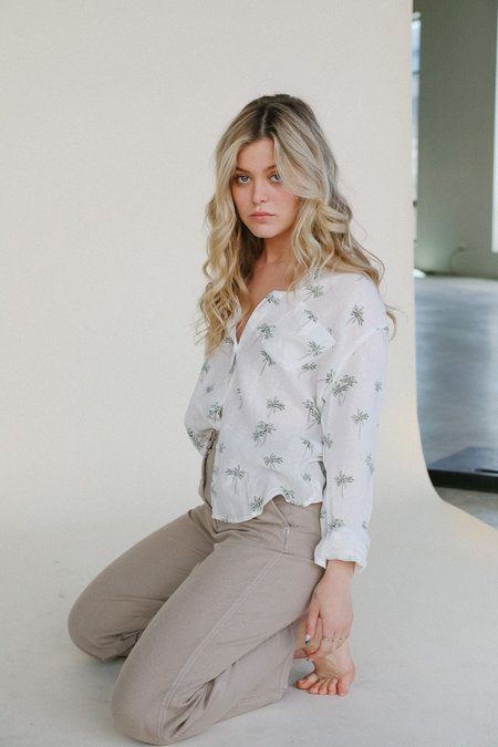 Rails Charli Button Down top - Sketched Palms