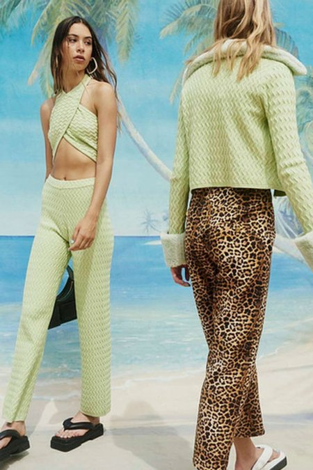 House of Sunny ISLAND KNIT PANTS - GREEN