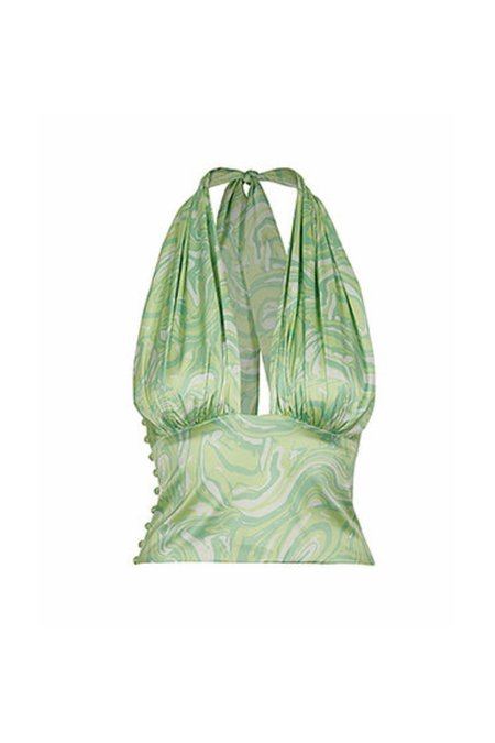 House of Sunny PARADISE Halter Top - GREEN