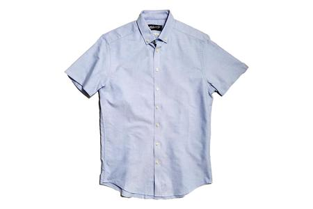 Milworks Oxford Short Sleeve Shirt - Blue