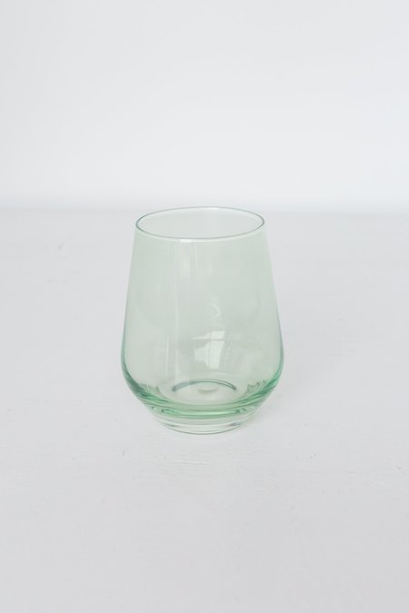 Estelle Colored Glass Stemless Wine Glasses - Mint Green