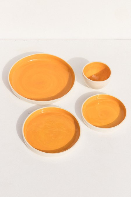 Abs Objects Set of Four Dinnerware - Orange