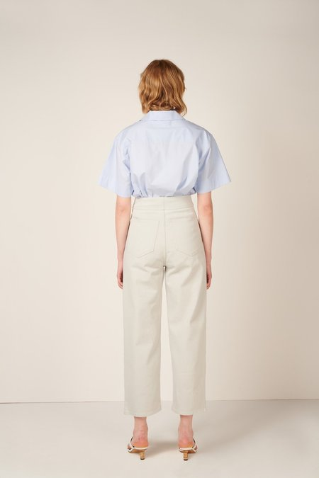 MM6 Maison Margiela Cropped High Waisted Jeans - Grey