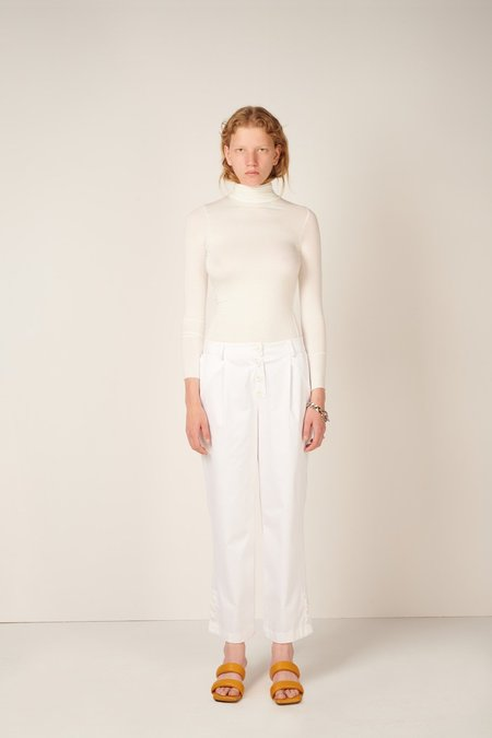 MEUF Low Rise Trousers - White