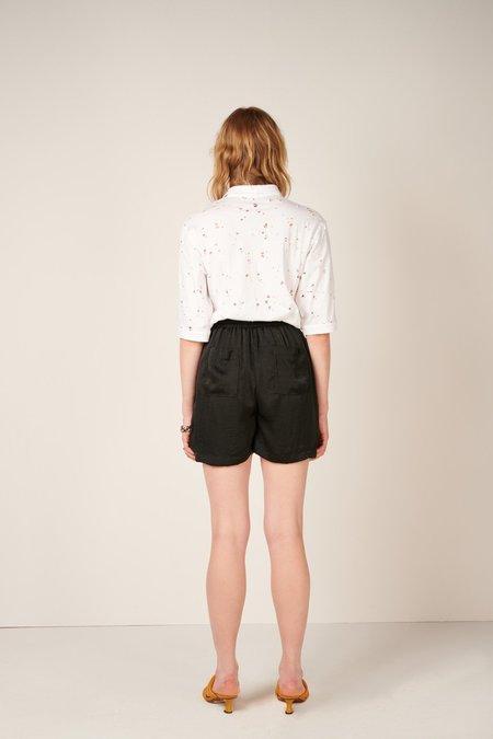 DIGITARIA Pleated Shorts - Black