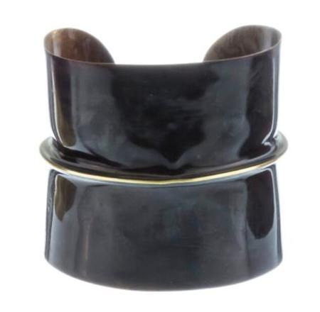 Sibilia Jewelry Half & Half cuff bracelet - Black