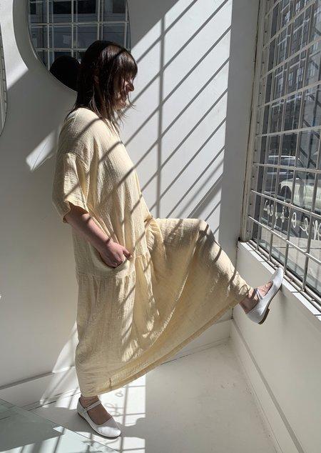 Black Crane Easy Dress - Vanilla