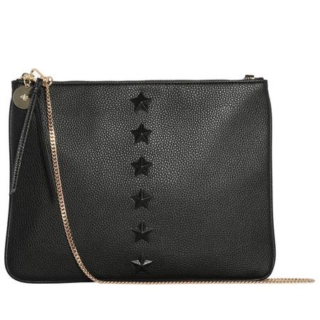 ela Editor's Removable Chain Pouch bag - Black Star