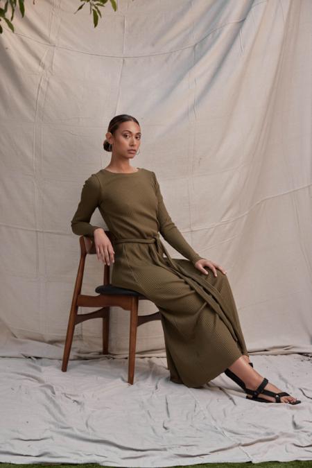 Lois Hazel Pillar Dress - Olive