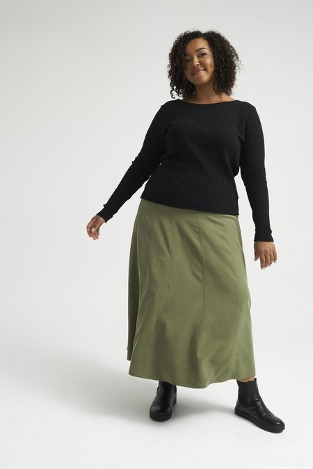 Lois Hazel Pillar Top - Black