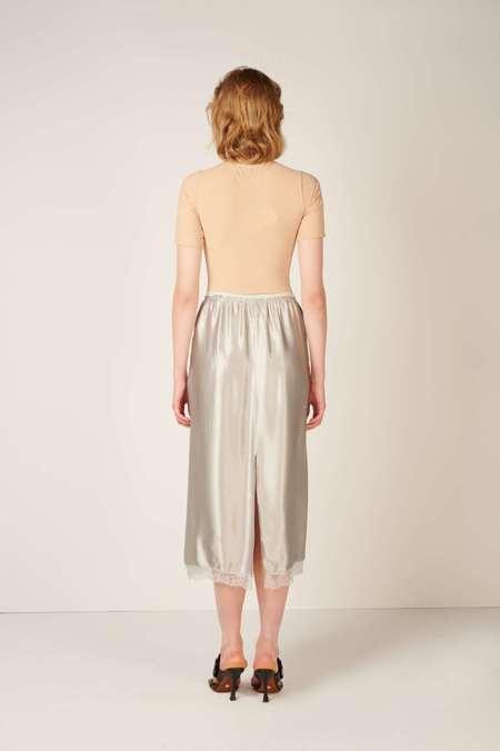 MM6 Maison Margiela Lace-trim straight skirt - Grey